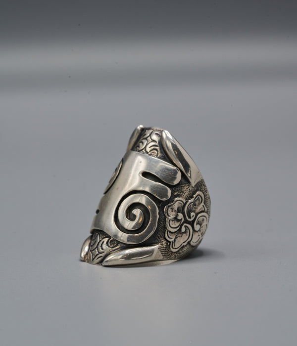 Zulu Shield Ring with Kwatakye Atiko