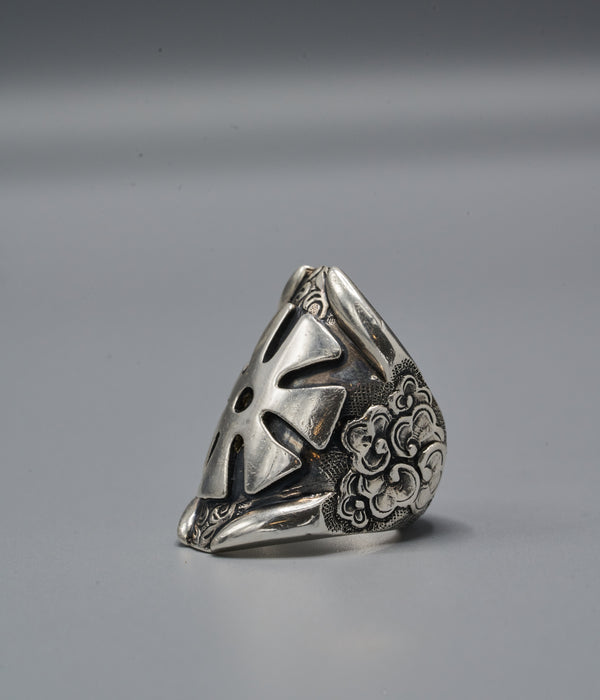 Zulu Shield Ring with Ananse Ntontan