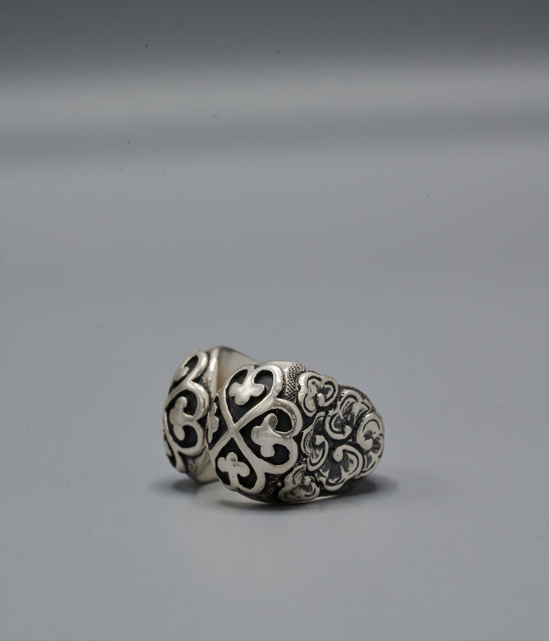 Malala Flower Power Ring with Nyame Dua