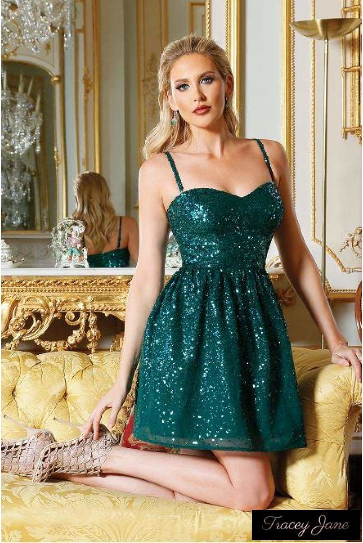 0369b613 Princess Sequin Mini Dress- Emerald – Tracey Jane Fashion