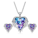 Swarovski Angel Wing Necklace & Earring Set