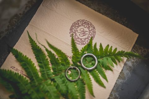 rsvp, rings, and greenery