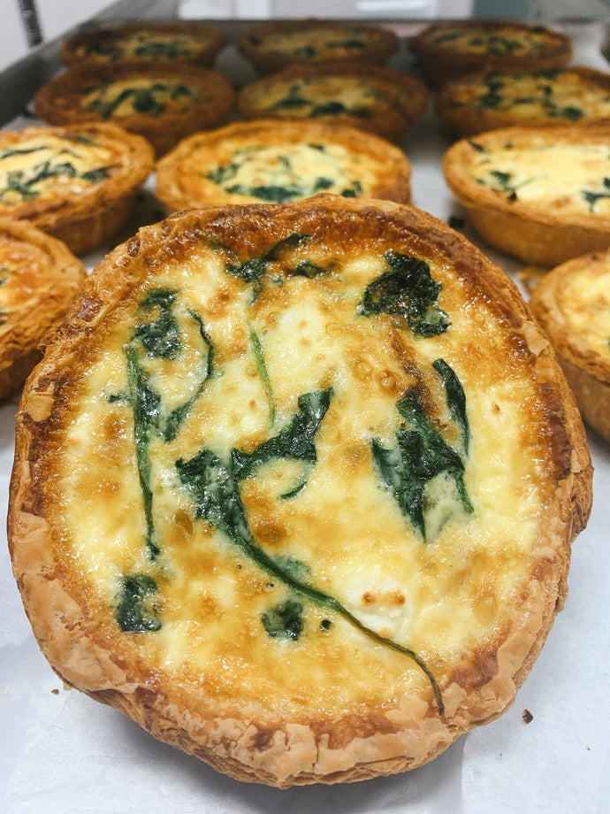 Mini Goat Cheese and Spinach Quiche
