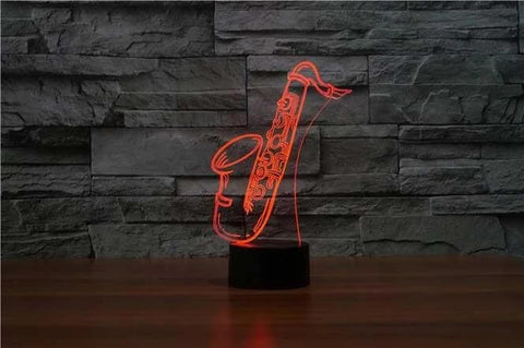 Image of Saxophone 3D LED Illusion Lamp