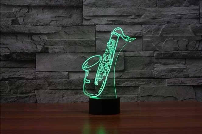 Saxophone 3D LED Illusion Lamp