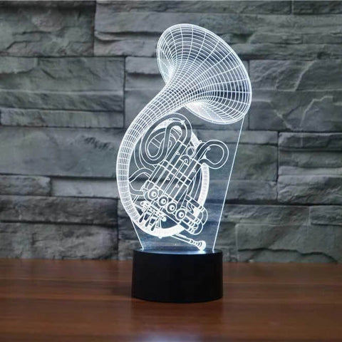 French Horn 3D LED Illusion Lamp