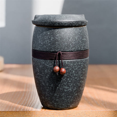 Image of Allen Ceramic Tea Mug with Infuser and Lid