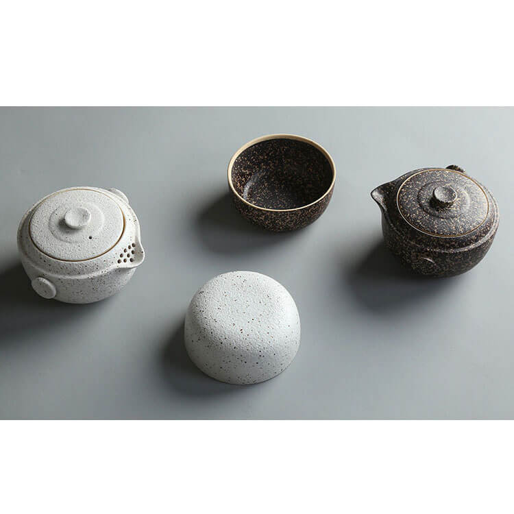 Black Pottery Tea Set