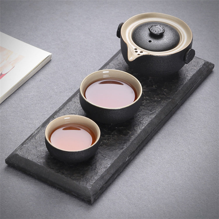Black Pottery Chinese Tea Set