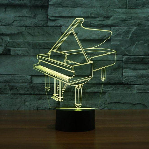 Image of Piano 3D LED Illusion Lamp