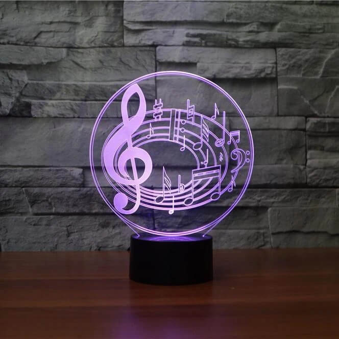 Musical Notes 3D LED Illusion Lamp