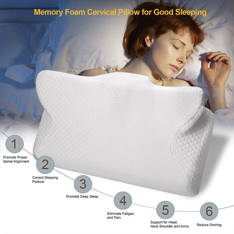 Image of CPAP Pillow Contour Pillow For Anti Snore Memory Foam Contour Design