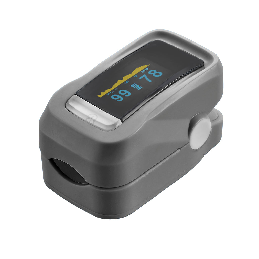 Finger pulse oximeter with OLED display
