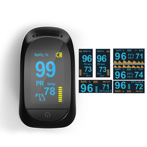 Blood Oxygen Saturation Monitor Digital Medical Fingertip Oximeter A2