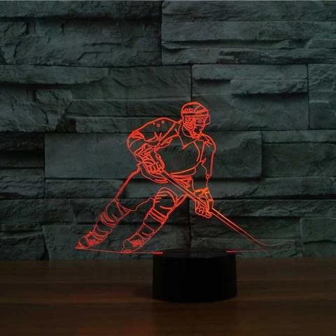 Image of Hockey 3D LED Illusion Lamp