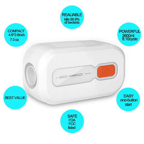 Image of CPAP Mask Cleaner Disinfector For CPAP,APAP,BIPAP Machines With Recharge Battery 2000mAh Sleep Apnea