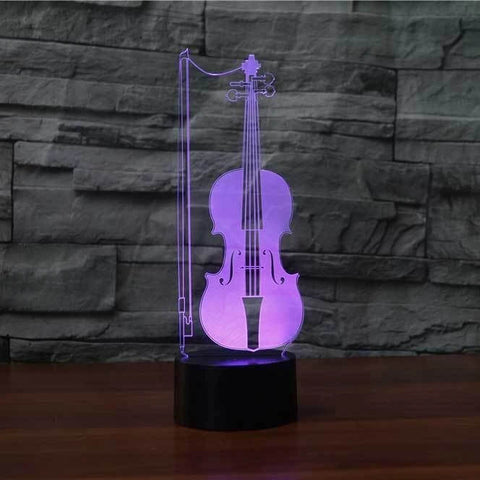 Image of Violin 3D LED Illusion Lamp