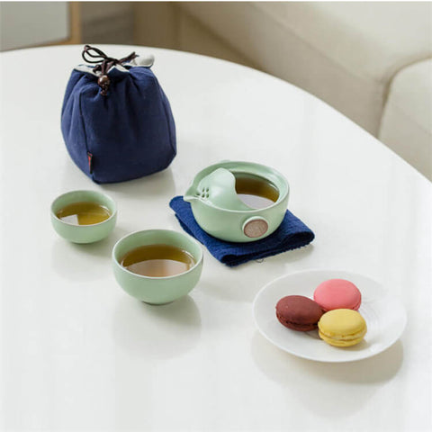 Image of Ru Kiln Travel Tea Set