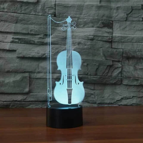 Violin 3D LED Illusion Lamp