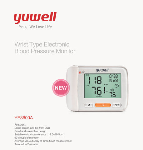 Image of Yuwell YE8600A Electronic Blood Pressure Monitor