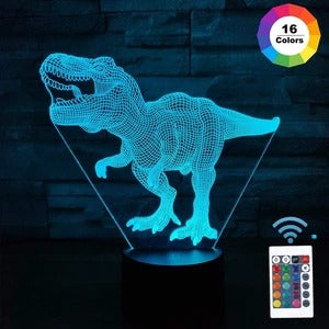 Image of Dinosaur 3D IllusIon Lamp