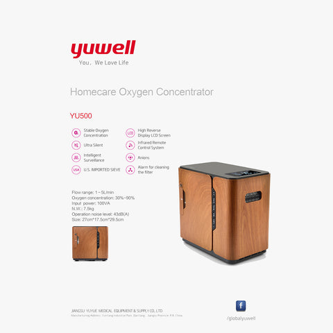 Yuwell Yu500 Portable Oxygen Concentrator