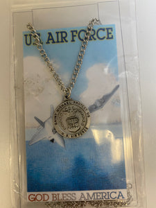 US Air Force medal and prayer card