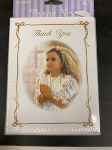 First communion thank you cards set of 8