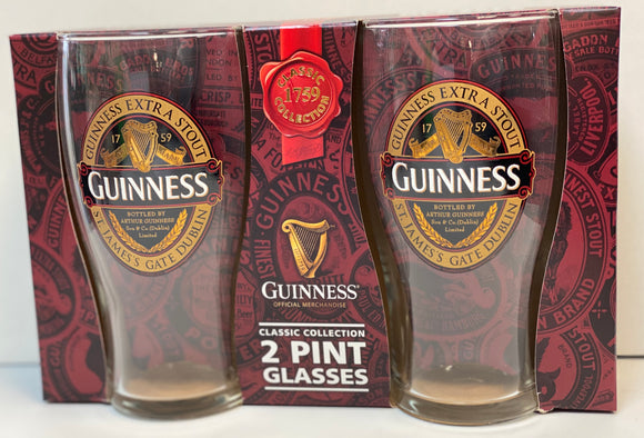 Guinness Set of 2 Pint Glasses