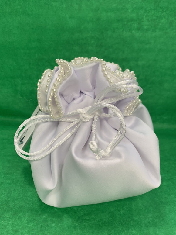 First communion handbag with pearls