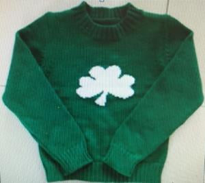 Green Shamrock Sweater