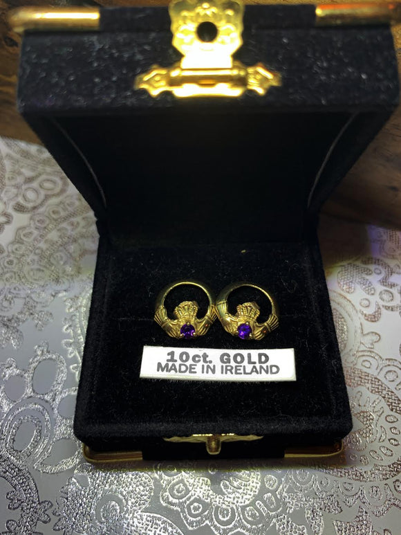 10K Gold Birthstone Earrings