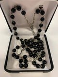 Black Rosary Beads for First Communion