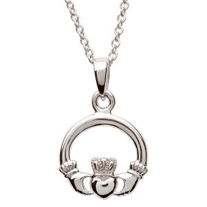 Silver Claddagh Necklace SP2116