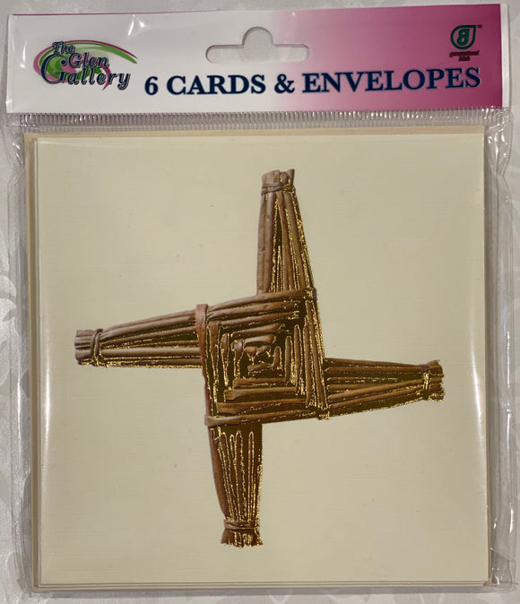 St. Brigid. Cross Blank cards set of 6