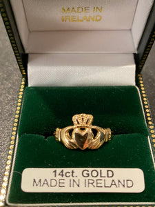 14k facet ladies claddagh #284