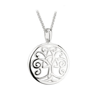 SILVER CELTIC TREE OF LIFE PENDANT S46472
