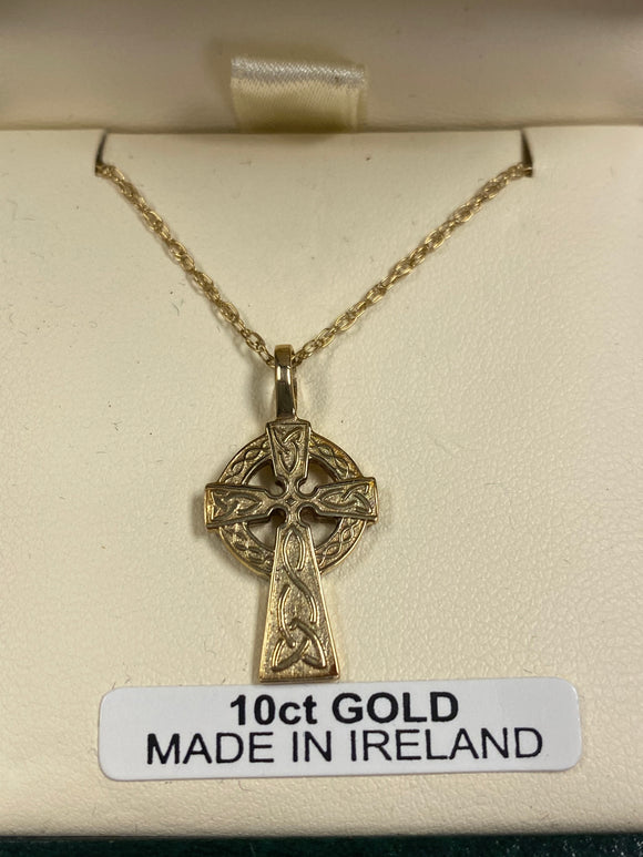 10K Gold Celtic Cross