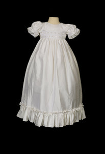 Girls Off-White Christening Dress #i351c