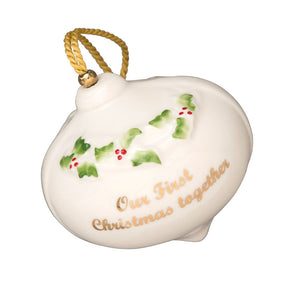 BELLEEK CLASSIC OUR FIRST CHRISTMAS