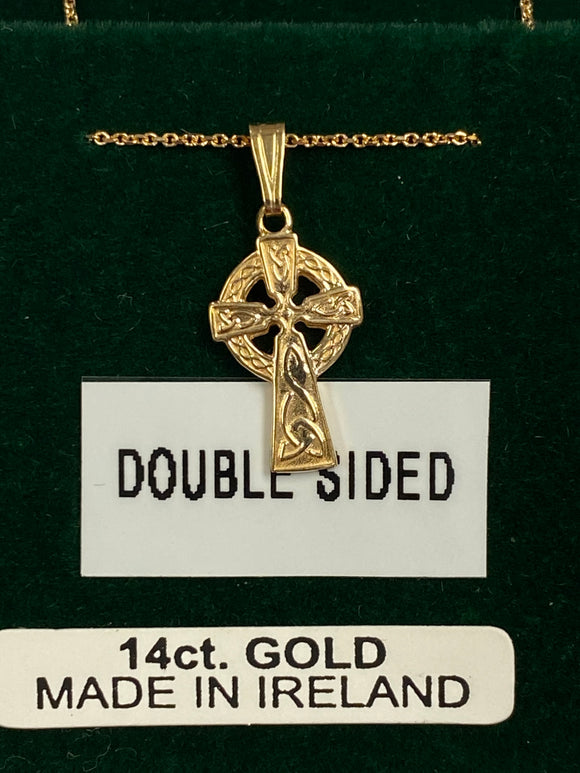 14K Gold Double Sided Baby Cross