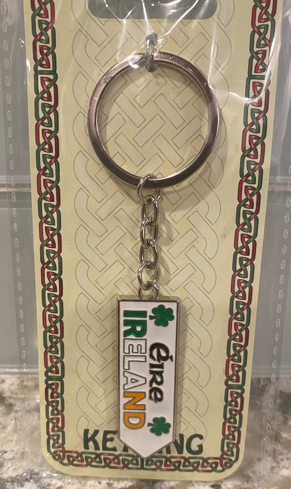 Road sign keychain