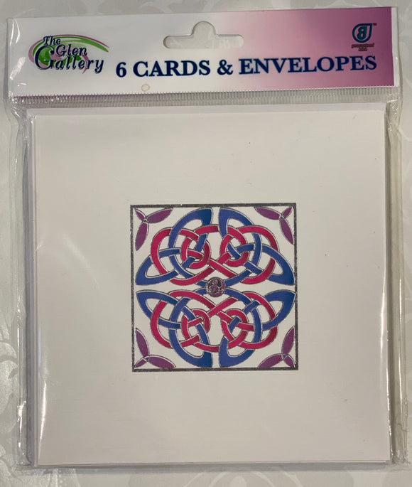 Celtic square Blank cards set of 6