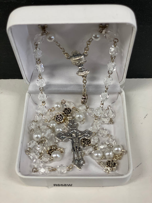 First communion rosary R658W