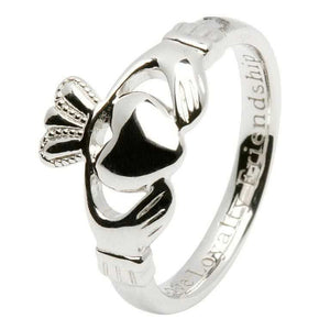Ladies Claddagh Comfort fit Silver Ring SL92