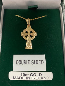 10k medium double sided flat Celtic cross ma24d