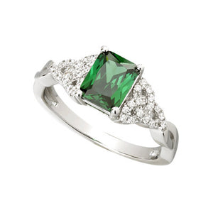 Solvar trinity know with large green stone S21040