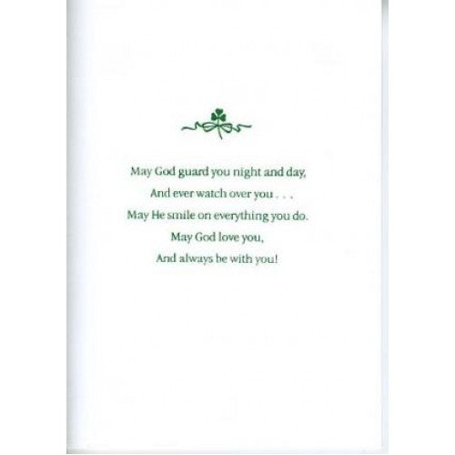 Irish blessing for baby's christening card