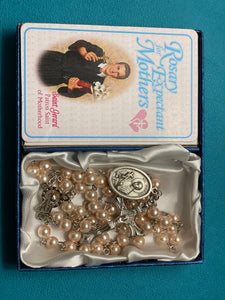 Expectant mothers rosary with prayer card