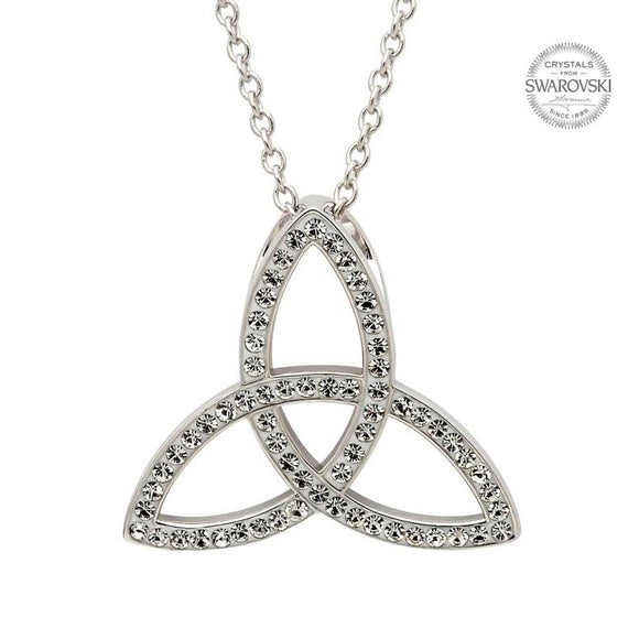 Celtic Trinity Knot Necklace Embellished With Swarovski Crystals s546